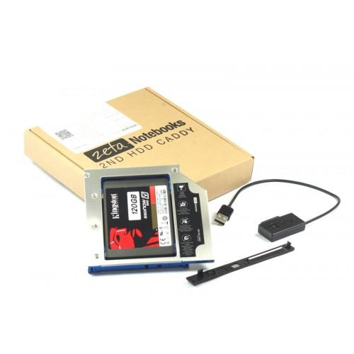 KIESZEŃ ZETA 2HDD ASUS K52, K53, K55, K70, K73 + kabel