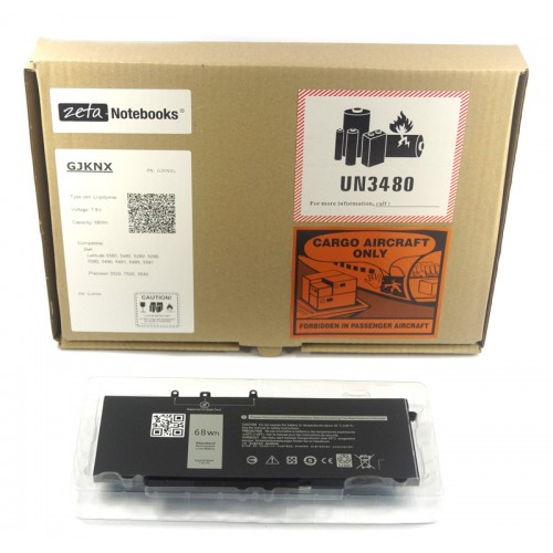 Bateria do Dell GJKNX 5480 5580 5280 4-Cell 68Wh
