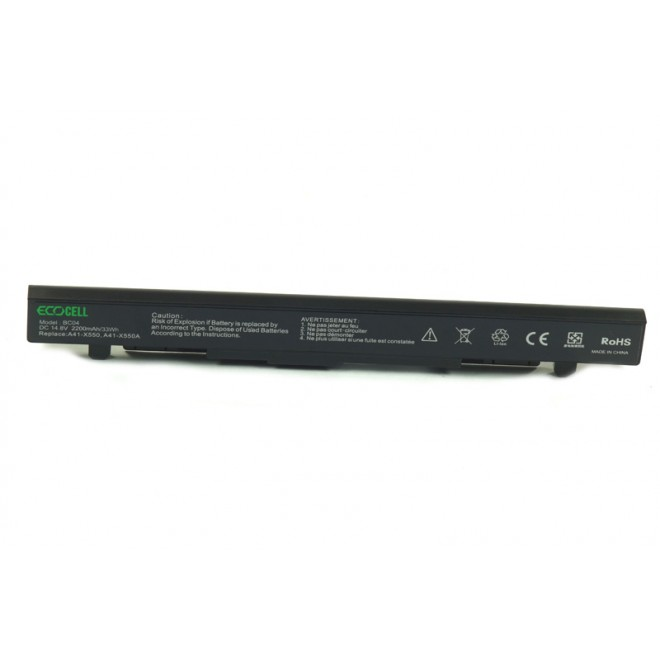 BATERIA ECOCELL DO ASUS X550CA A41-X550 A41-X550A