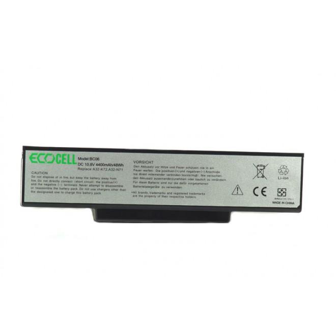 BATERIA ECOCELL DO ASUS A32-K72 A72 K72 K73 N71 N73