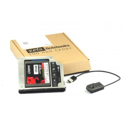 KIESZEŃ ZETA 2HDD DELL LATITUDE E6440 E6540 Precision m2800 + kabel
