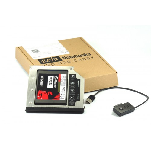 KIESZEŃ ZETA 2HDD DELL LATITUDE E6420 E6520 E6320 + kabel